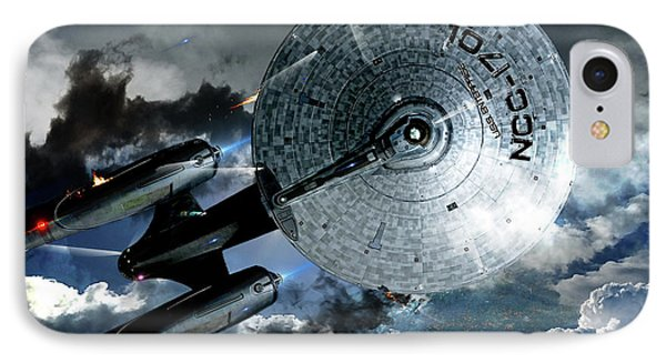 Star Trek Into Darkness, Original Mixed Media IPhone 7 Case by Thomas Pollart