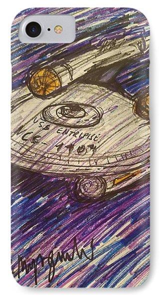 Star Treks Uss Enterprise  IPhone Case by Geraldine Myszenski