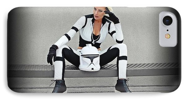 Star Wars By Knight 2000 Photography- Clone Trooper IPhone Case by Laura Michelle Corbin