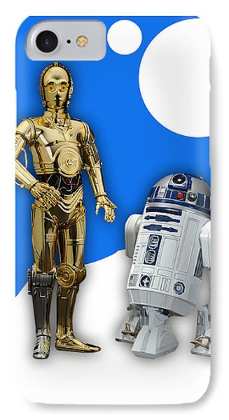 Star Wars C-3po And R2-d2 IPhone Case by Marvin Blaine