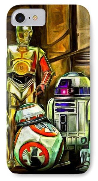 Star Wars Droid Family IPhone Case by Leonardo Digenio