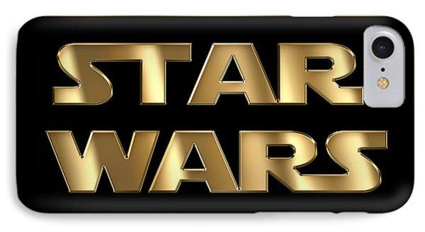 Star Wars Golden Typography On Black IPhone Case