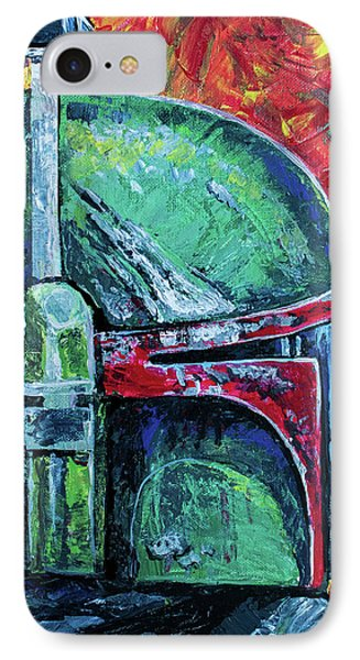 IPhone 7 Case featuring the painting Star Wars Helmet Series - Boba Fett by Aaron Spong