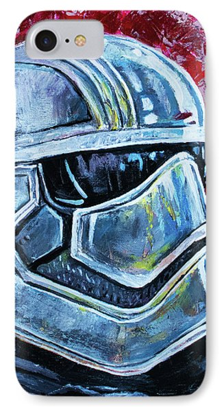IPhone 7 Case featuring the painting Star Wars Helmet Series - Captain Phasma by Aaron Spong