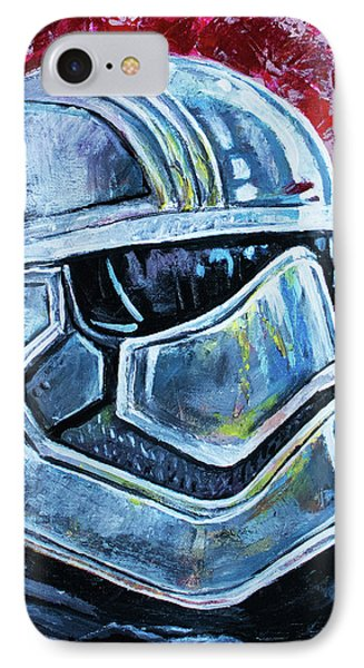 IPhone Case featuring the painting Star Wars Helmet Series - Captain Phasma by Aaron Spong