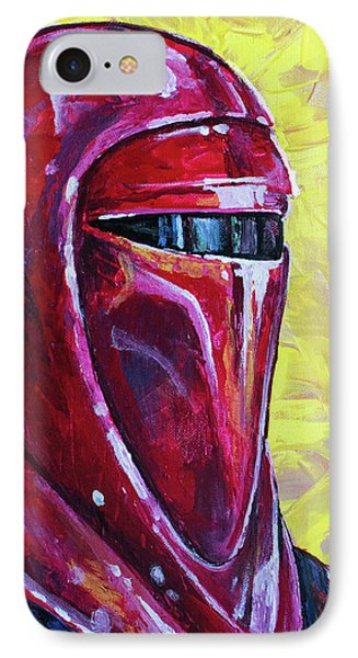 IPhone 7 Case featuring the painting Star Wars Helmet Series - Imperial Guard by Aaron Spong