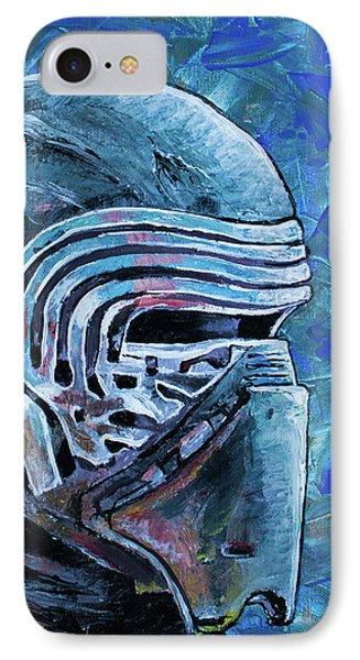 IPhone 7 Case featuring the painting Star Wars Helmet Series - Kylo Ren by Aaron Spong