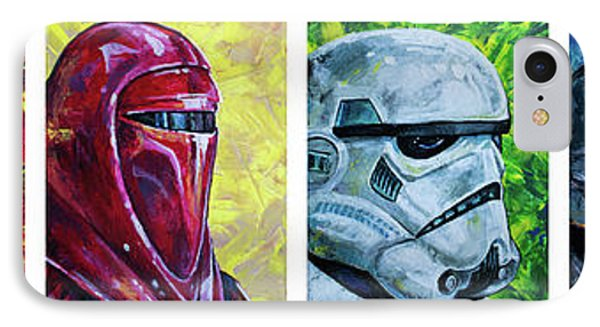 IPhone Case featuring the painting Star Wars Helmet Series - Panorama by Aaron Spong