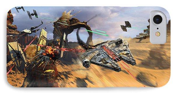 Star Wars Millennium Falcon IPhone Case by Kurt Miller