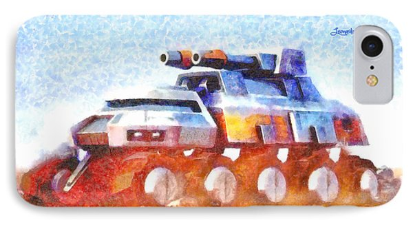 Star Wars Rebel Army Armor Vehicle  - Watercolor Style -  - Da IPhone Case