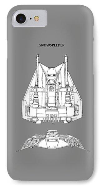 Star Wars - Snowspeeder Patent IPhone Case by Mark Rogan