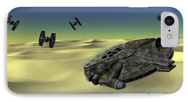 Star Wars Tatooine  IPhone Case by Michael Greenaway
