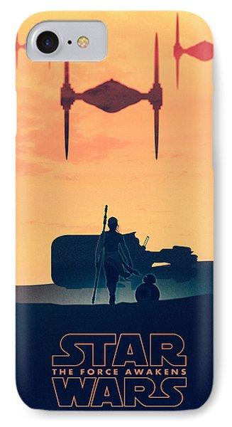 Star Wars The Force Awakens - Rey IPhone Case by Farhad Tamim