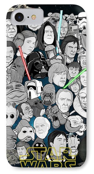 Star Wars Universe Collage Phone Case by Gary Niles