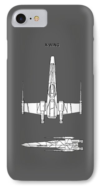 Star Wars X-wing Fighter IPhone Case by Mark Rogan