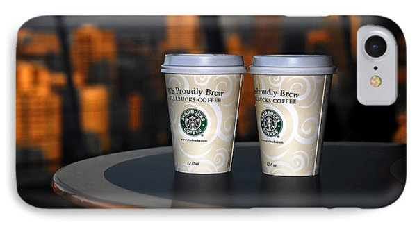 Starbucks At The Top Phone Case by David Lee Thompson