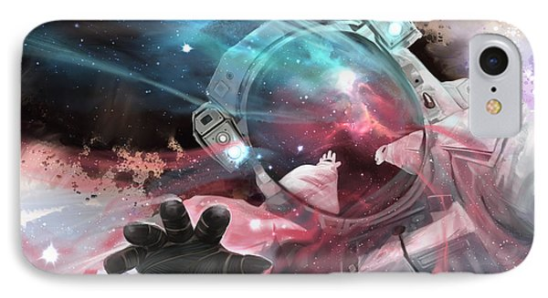 IPhone Case featuring the digital art Stardust by Steve Goad