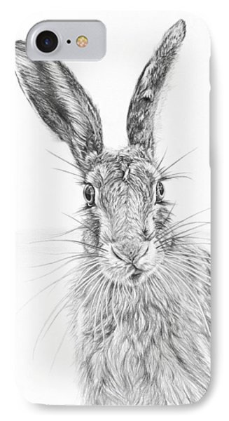 Stare Of The Hare IPhone Case by Frances Vincent