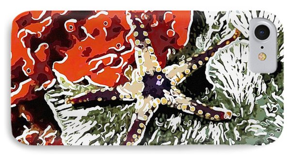 Starfish In Coral Reef 7 Phone Case by Lanjee Chee