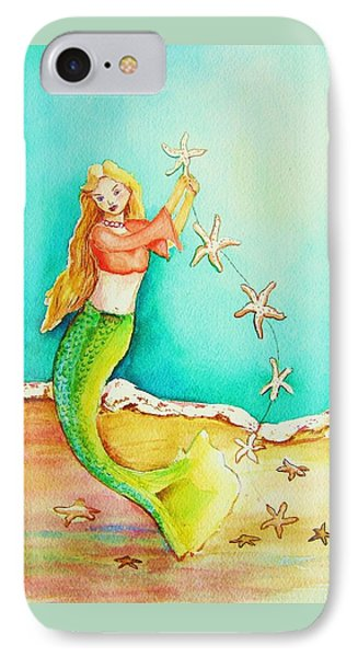 Starfish Mermaid IPhone Case by Patricia Piffath