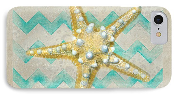 Starfish In Modern Waves IPhone Case