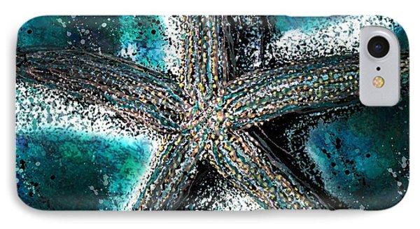 Starfish Ocean Deep IPhone Case by Barbara Chichester