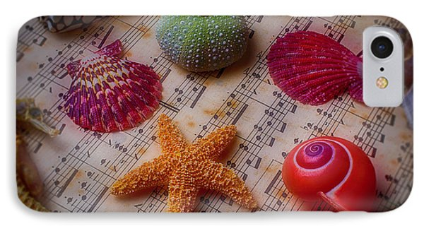 Starfish On Sheet Music IPhone Case by Garry Gay