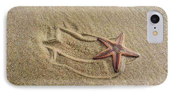 Starfish On The Beach IPhone Case by Debra Martz