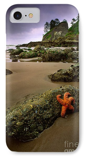 Starfish On The Rocks Phone Case by Inge Johnsson