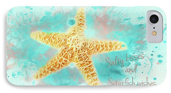 IPhone Case featuring the photograph Starfish Wishes by Darren Fisher