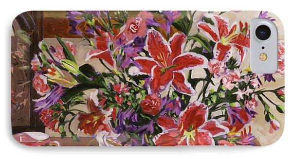 Stargazer Lilies IPhone Case by David Lloyd Glover