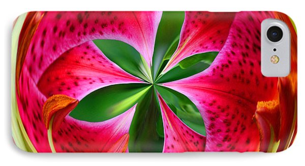 IPhone Case featuring the photograph Stargazer Lily Orb by Bill Barber