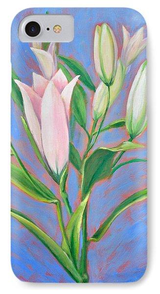 Stargazing Lilies IPhone Case by Linda Wilson
