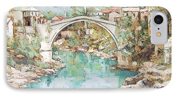 IPhone Case featuring the photograph Stari Most Bridge Over The Neretva River In Mostar Bosnia Herzegovina by Joseph Hendrix