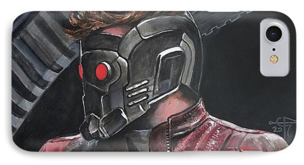 Starlord IPhone Case by Tom Carlton