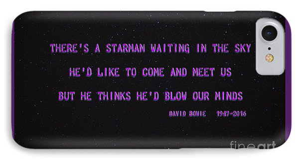 Starman IPhone Case by John Stephens