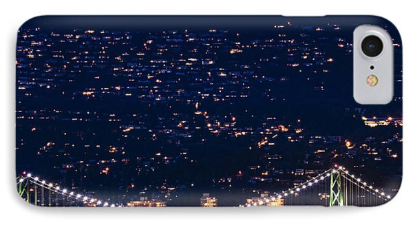 IPhone Case featuring the photograph Starry Lions Gate Bridge - Mdxxxii By Amyn Nasser by Amyn Nasser