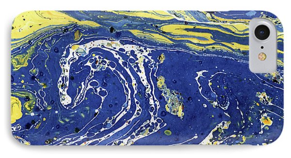 IPhone Case featuring the painting Starry Night Abstract by Menega Sabidussi