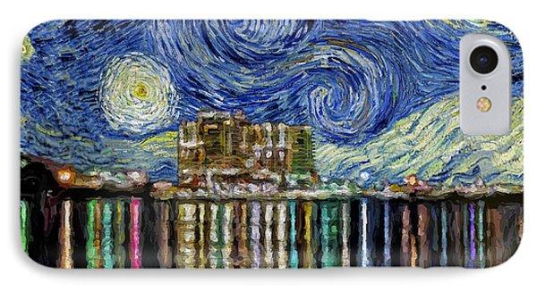 Starry Night In Destin IPhone Case by Walt Foegelle