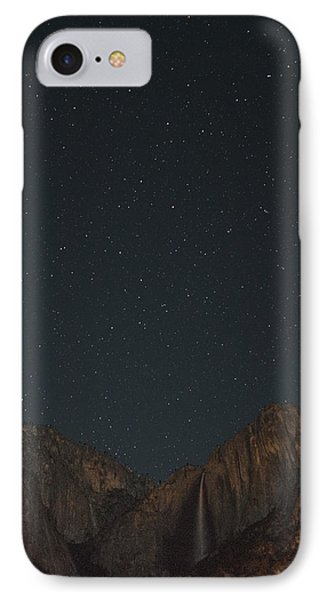Starry Night Over Yosemite Falls IPhone Case by Bill Roberts