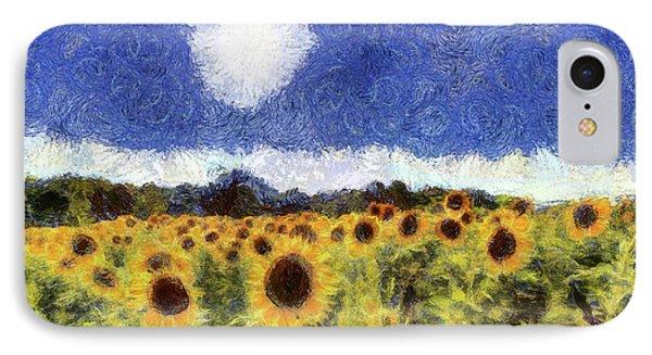 Starry Night Sunflowers IPhone Case
