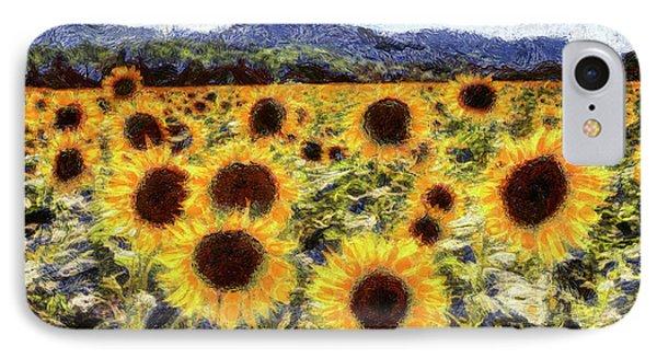 Starry Night Sunflowers Van Gogh IPhone Case