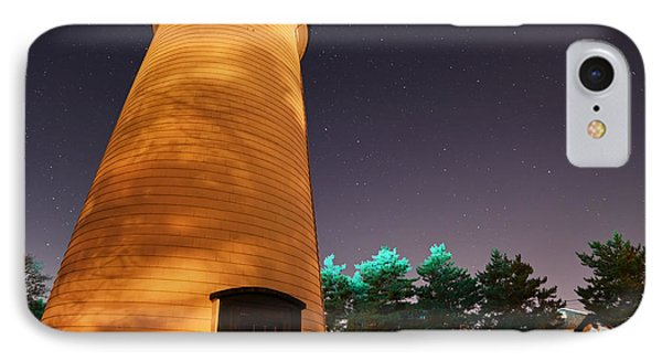 Starry Sky Over The Newburyport Harbor Light Closeup IPhone Case by Toby McGuire