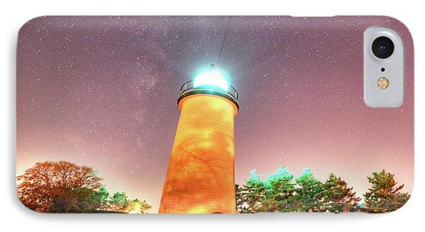 Starry Sky Over The Newburyport Harbor Light IPhone Case by Toby McGuire