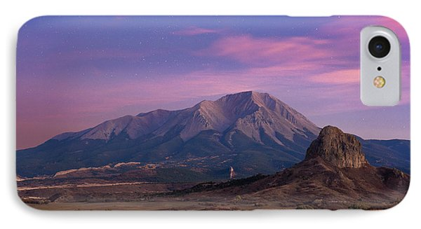 IPhone 7 Case featuring the photograph Starry Sunset Over West Spanish Peak by Aaron Spong