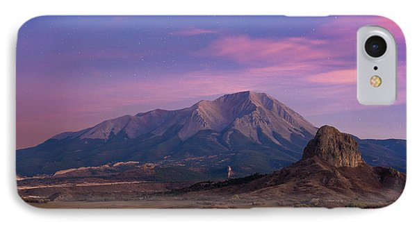 IPhone Case featuring the photograph Starry Sunset Over West Spanish Peak by Aaron Spong
