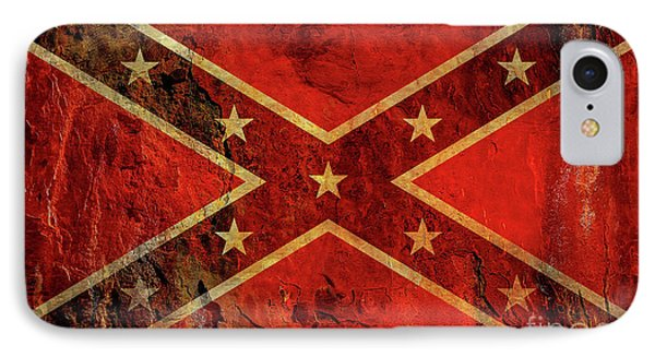 Stars And Bars Confederate Flag IPhone Case by Randy Steele