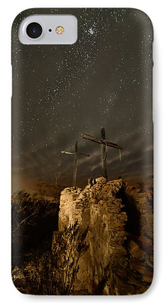 Stars And Crosses IPhone Case by Allen Biedrzycki