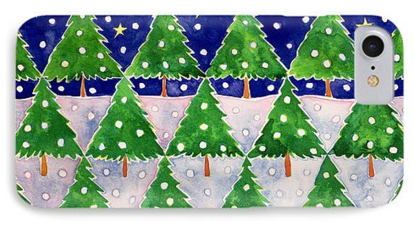 Stars And Snow Phone Case by Cathy Baxter