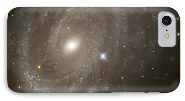 Stars And Spiral Galaxy Phone Case by Jennifer Rondinelli Reilly - Fine Art Photography